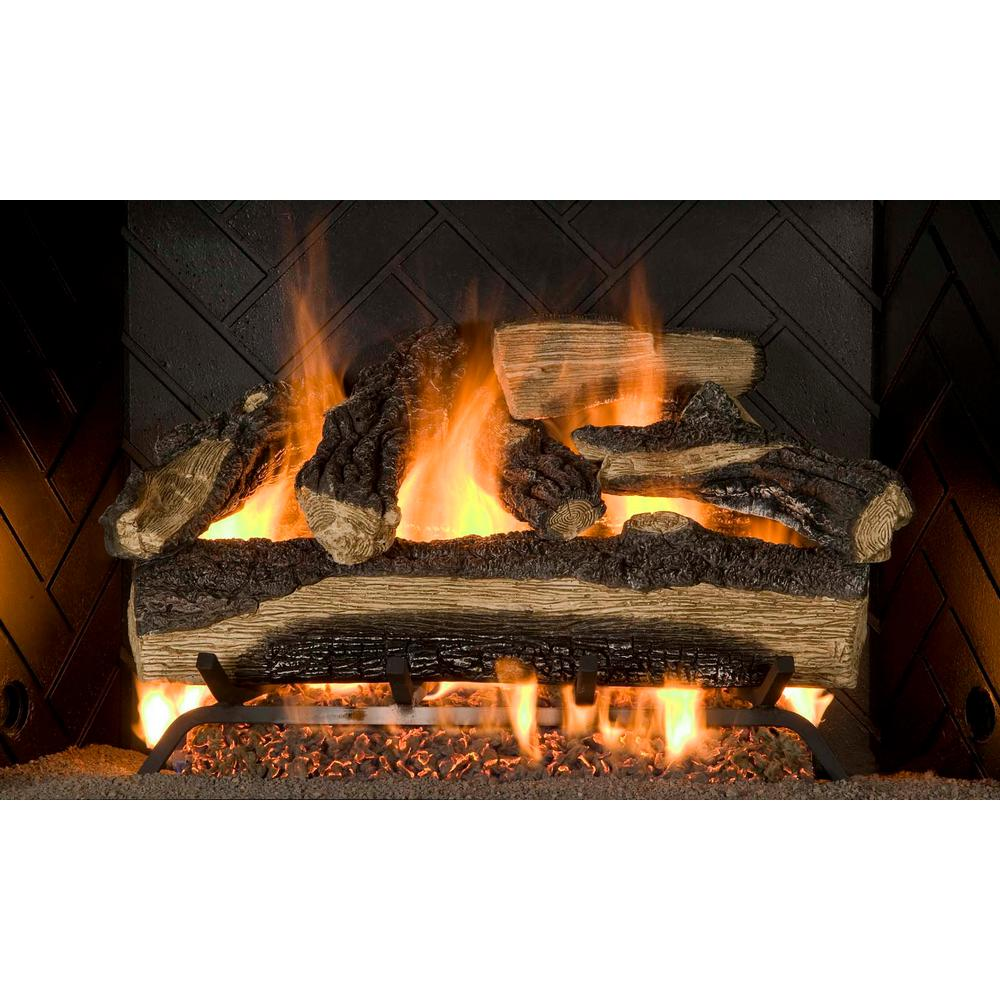Emberglow Oakwood 24 in VentFree Natural Gas Fireplace LogsOVM21NG  The Home Depot
