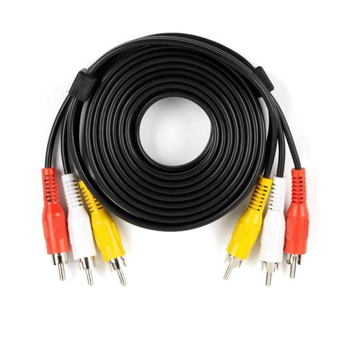 small resolution of audio and video cable with rca plugs