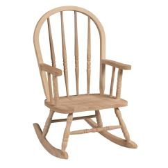 Toddler Wooden Rocking Chair Kid Folding Camp Chairs With Carrying Bag International Concepts Unfinished Wood Windsor Kids 1cc 2140 The Home Depot