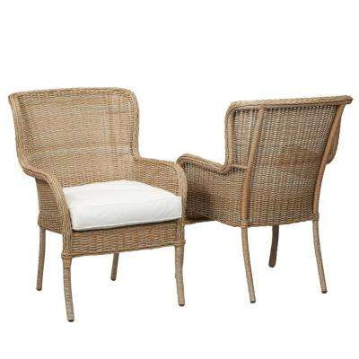 woven outdoor chair chiavari covers for weddings lemon grove patio furniture outdoors the home depot custom stationary wicker dining 2 pack with cushions included