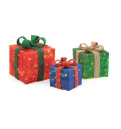 pre lit gift boxes yard decor set of 3  [ 1000 x 1000 Pixel ]