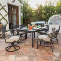 Clearance Outdoor 7 Piece Patio Dining Sets with Cushions