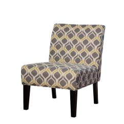 Yellow And Gray Accent Chair Glider Repair Noble House Galilea Pattern Fabric 297288