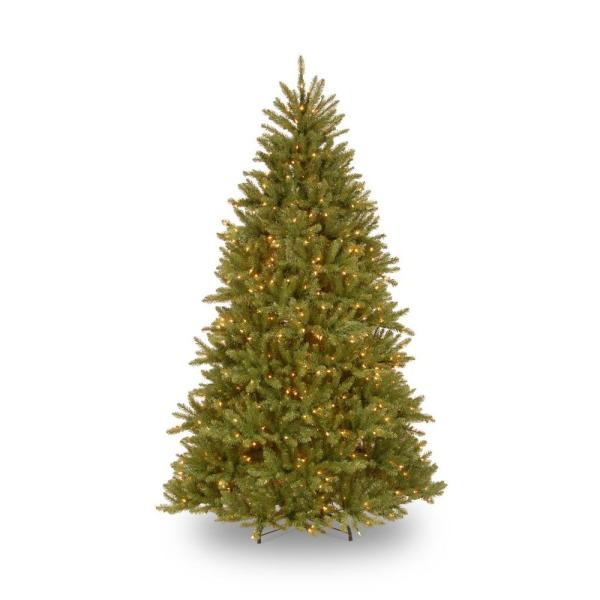 Christmas Tree Indoor Artificial 10 Ft. Pre-lit Dunhill Fir Hinged Clear Lights 729083060991