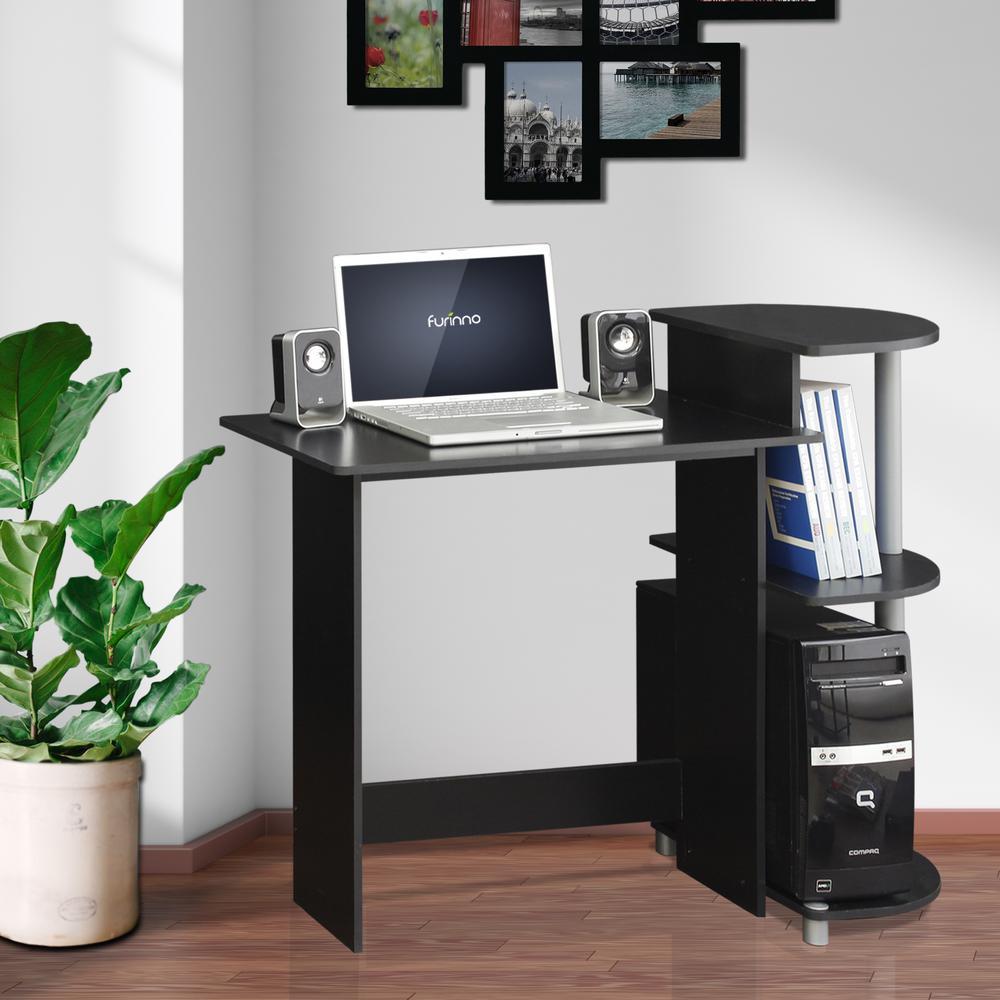 Furinno Compact BlackGrey Computer Desk11181BKGY  The