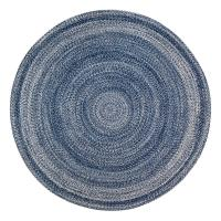 Anji Mountain Epona Braided Blue 4 ft. Round Area Rug ...