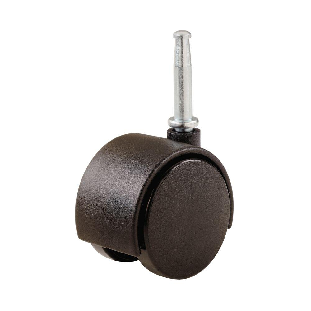 chair casters threaded stem ikea poang parts shepherd 2 in plastic twin wheel swivel with 75 lb load rating per pack