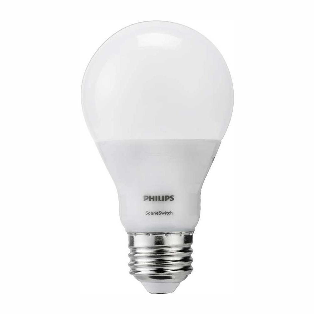 hight resolution of philips 60 watt equivalent a19 sceneswitch led light bulb daylight 5000k soft