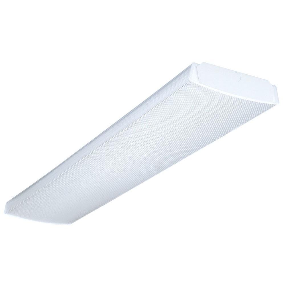 Lithonia Lighting 4 Ft 2 Light White Fluorescent Low