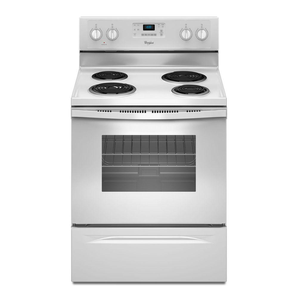 medium resolution of electric range with self cleaning oven in stainless steel wfc310s0es the home depot