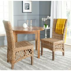 2 Chairs And Table Rattan Desk Chair Australia Safavieh Sumatra Kubu Soft Gray Side Set Of