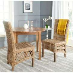 Wicker Living Room Sets Staircase Pictures Modern Natural Furniture The Sumatra Kubu Soft Gray Rattan Side Chair Set Of 2