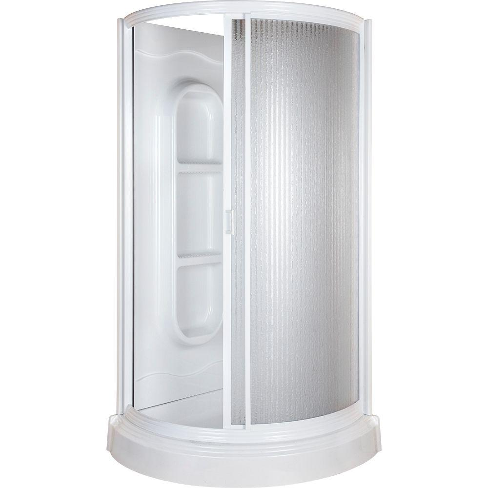 38 in x 38 in x 78 in Shower Kit in White455000  The Home Depot