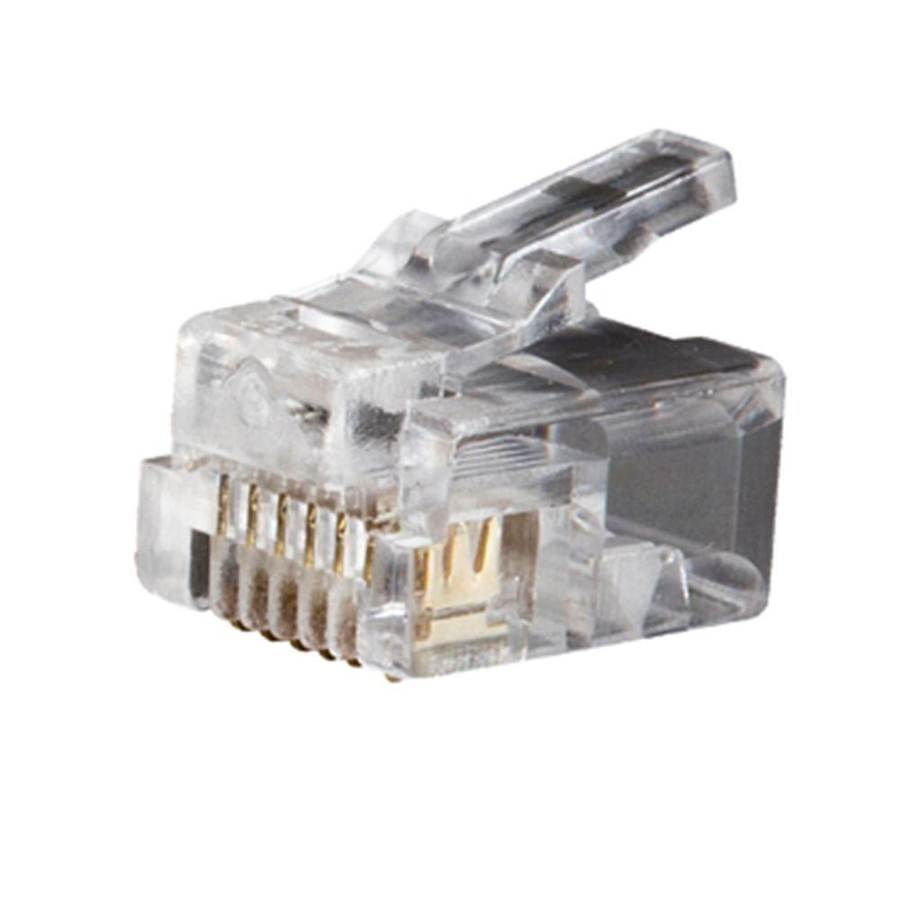 hight resolution of klein tools telephone plug rj11 6p6c 25 pack