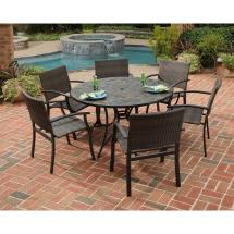 Slate Top Patio Dining Set