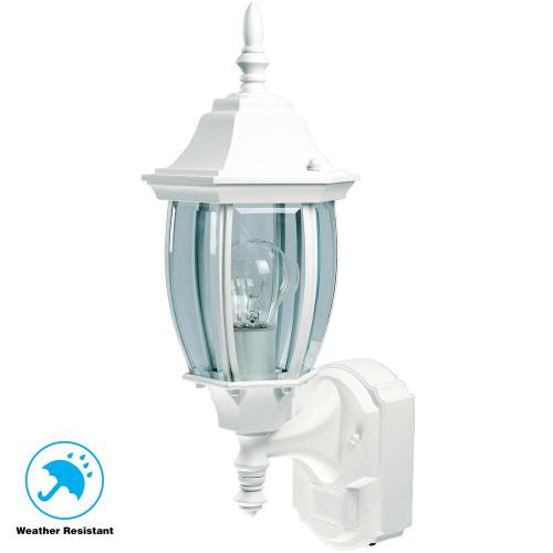 small resolution of  hampton bay alexandria 180 black motion sensing outdoor decorative on light switch diagram wiring light sensor