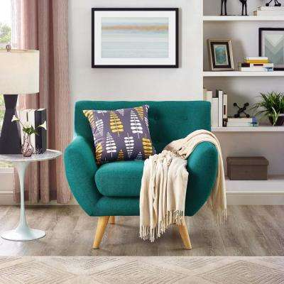 teal living room chair fireplaces for small rooms furniture the home depot remark upholstered armchair