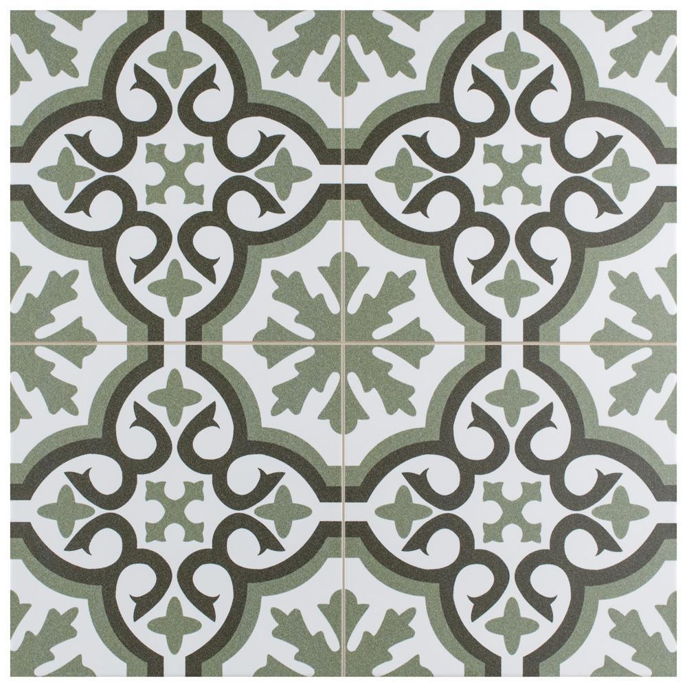 merola tile berkeley essence eden encaustic 17 5 8 in x 17 5 8 in porcelain floor and wall tile 11 02 sq ft case