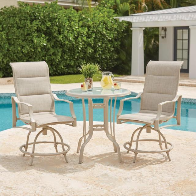 hampton bay statesville shell 3-piece outdoor balcony height dining