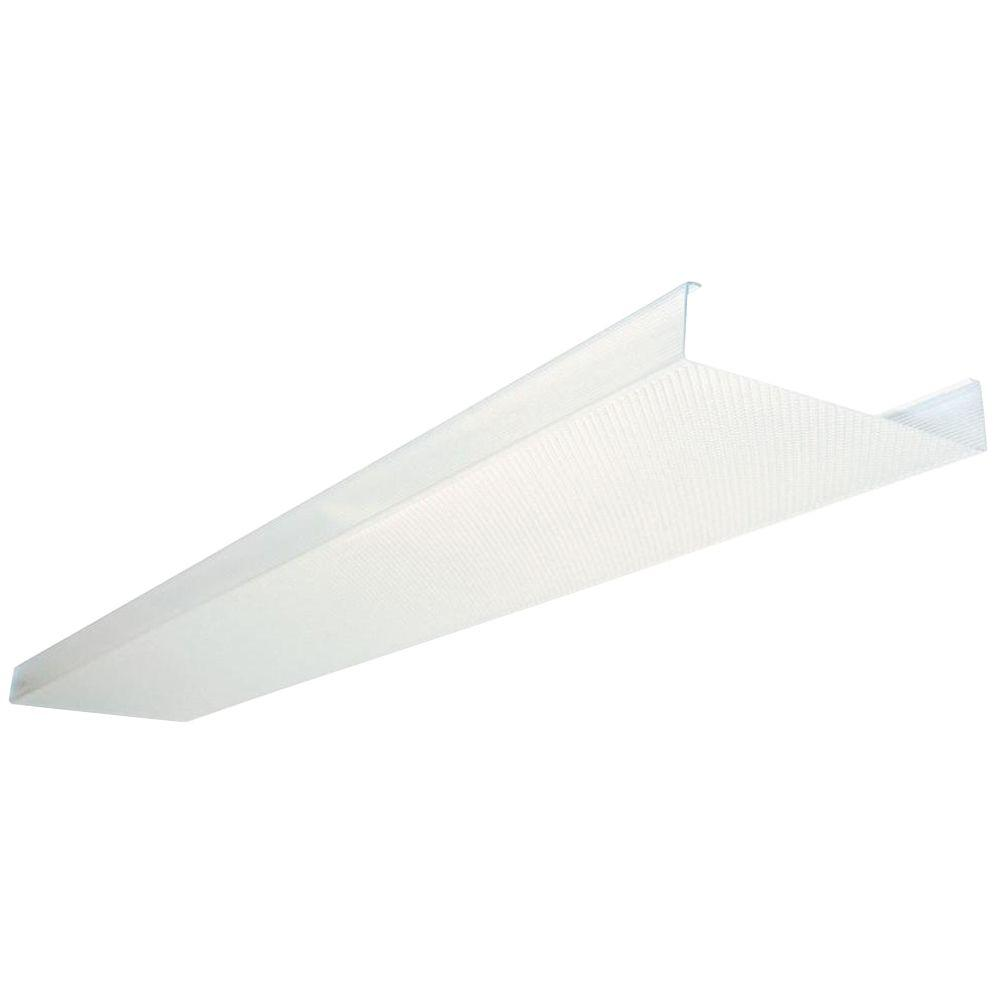kitchen fluorescent light covers how to make island lithonia lighting 4 ft replacement lens dsb48 m4 the home depot