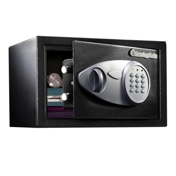 Sentrysafe 0.58 Cu. Ft. Security Safe With Electronic Lock And Override Key-x055 - Home Depot