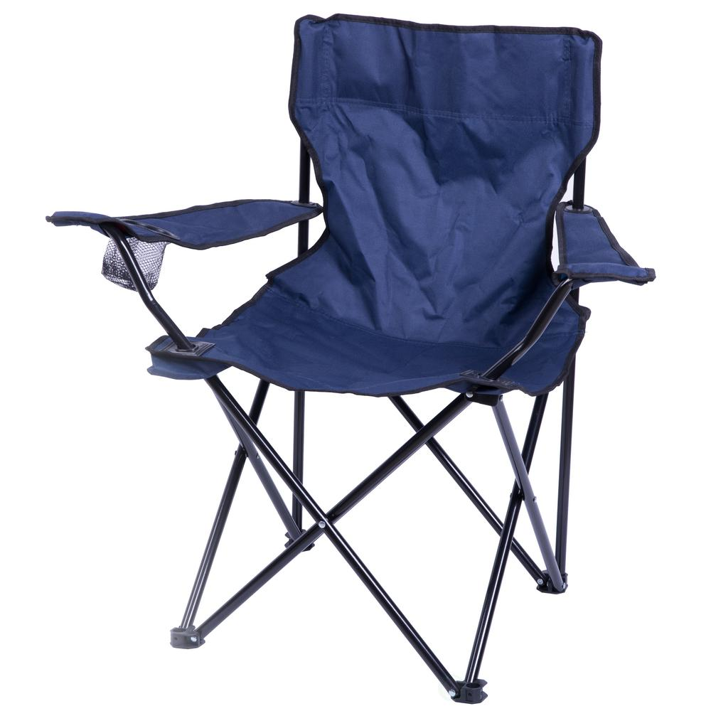 Folding Camp Chair Playberg Portable Folding Outdoor Camping Chair With Can Holder Navy