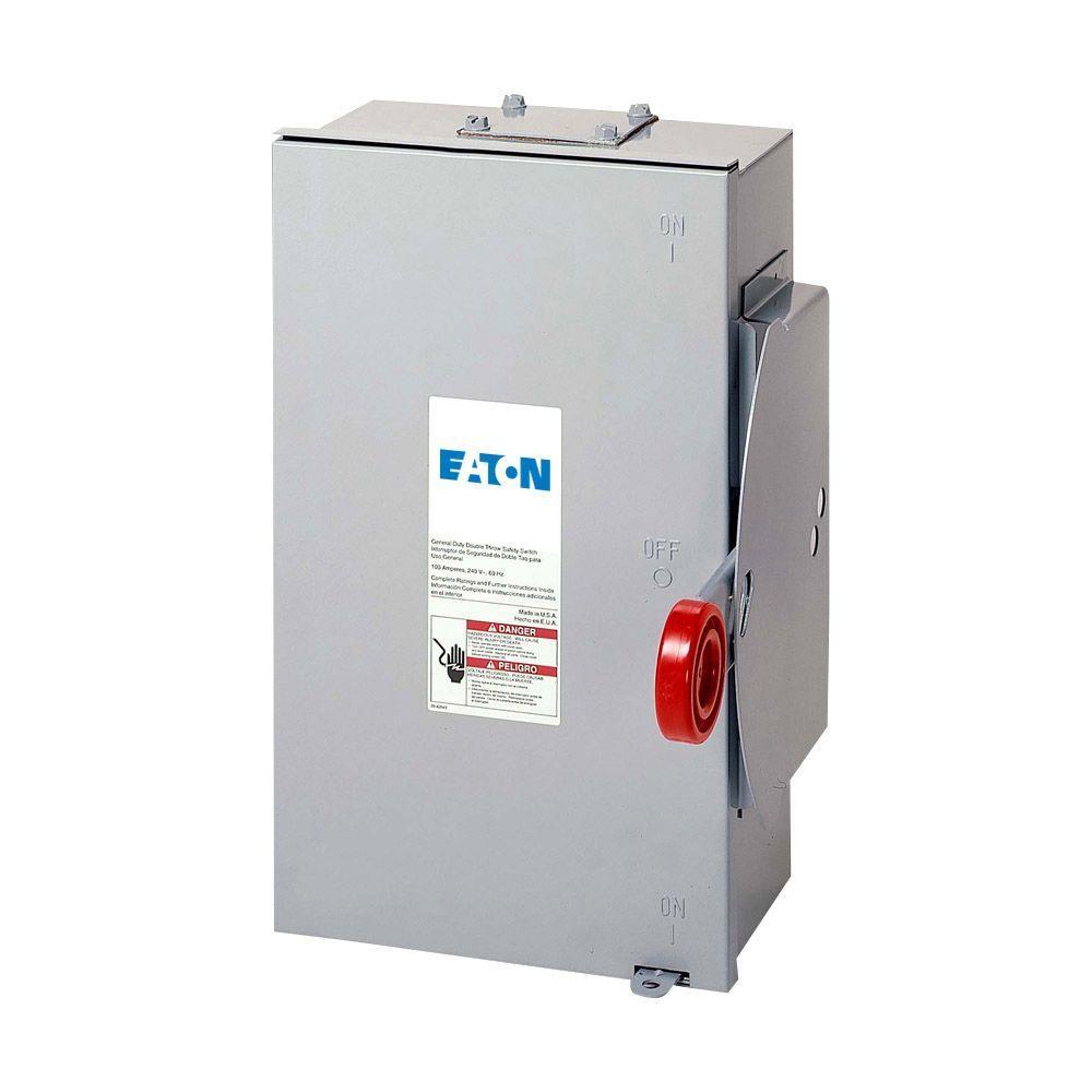 Double Throw Breaker Wiring Diagram Eaton 100 Amp 120 240 Volt 24 000 Watt Non Fused General