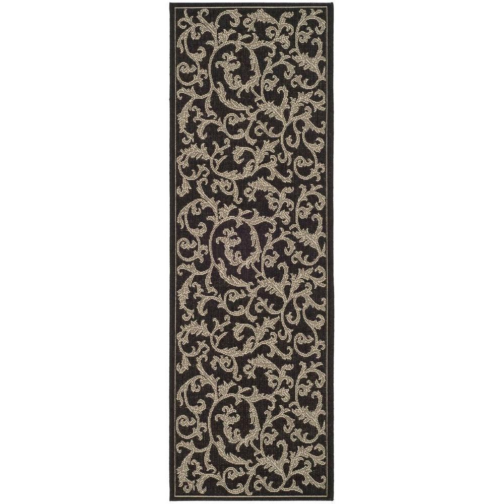 Safavieh Courtyard BlackSand 3 ft x 8 ft IndoorOutdoor