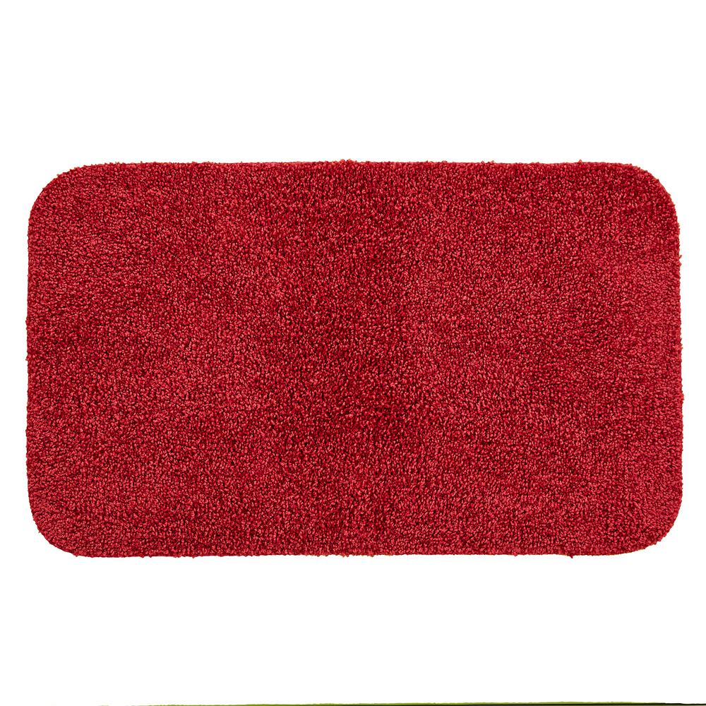 Red Bathroom Rug Mohawk Home Basic Bath 19 5 In X 32 In Nylon Bath Mat In Cranberry Red