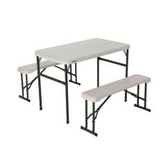 Lifetime Chairs And Tables Design Bar Table Bench Set Folding Furniture The Home 3 Piece