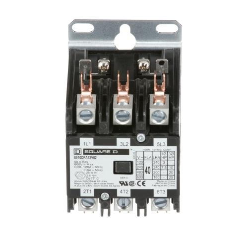 small resolution of 40 amp 120 volt ac 3 pole open definite purpose contactor 20 pack