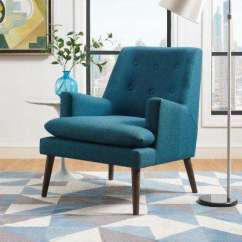 Teal Living Room Chair Wall Unit Design For In India Furniture The Home Depot Leisure Upholstered Lounge