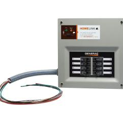generac upgradeable manual transfer switch for 8 circuits [ 1000 x 1000 Pixel ]