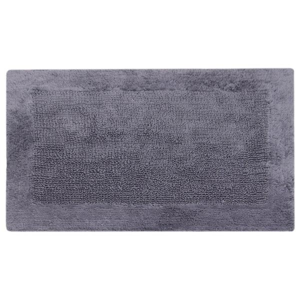 charcoal 21 in x 34 in outside border bath mat