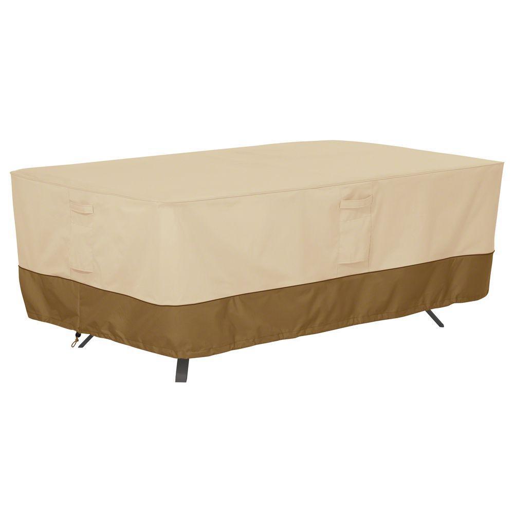 Classic Accessories Veranda XLarge Rectangular Patio Table Cover5556401150100  The Home Depot