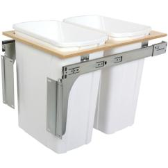 Kitchen Trash Can Pull Out Tile Top Table Cans Cabinet Organizers The Home Depot 18 In H X 15 W 23 D