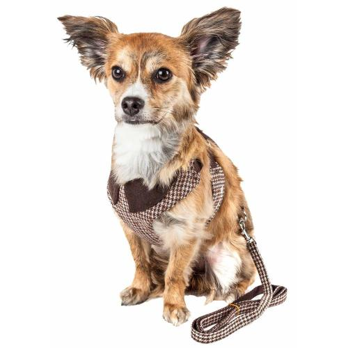 small resolution of pet life luxe houndsome medium2 in 1 reversible adjustable dog harness leash