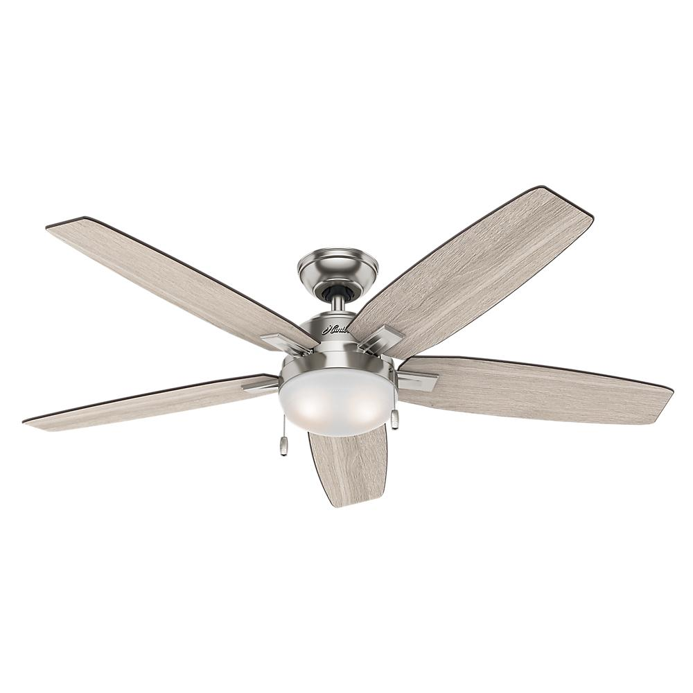 Hunter Antero 54 in. LED Indoor Brushed Nickel Ceiling Fan