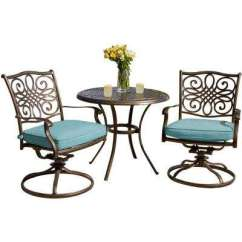 Bistro Tables And Chairs Types Of Rocking Sets Patio Dining Furniture The Home Depot Traditions 3 Piece Outdoor