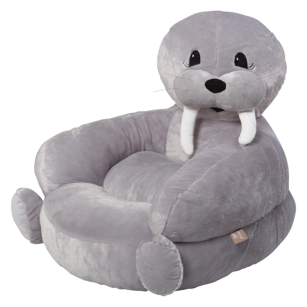 kids plush chairs luraco massage chair trend lab gray children s walrus character 102655 the