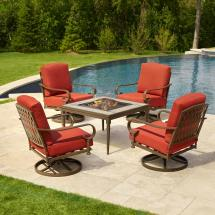 Patio Furniture with Fire Pit Conversation Set