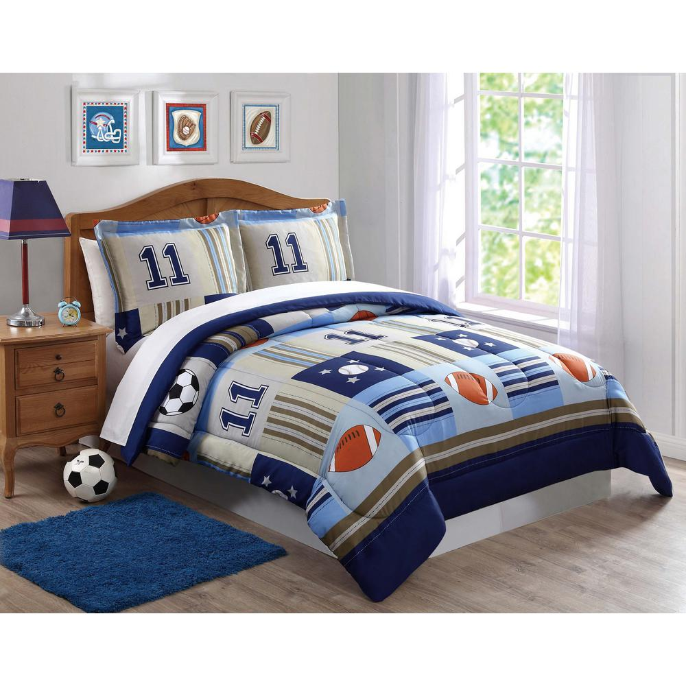 Denim and Khaki SportsFull / Queen Comforter Set