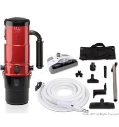 prolux cv12000 red central vacuum power unit with electric hose and power nozzle kit [ 1000 x 1000 Pixel ]