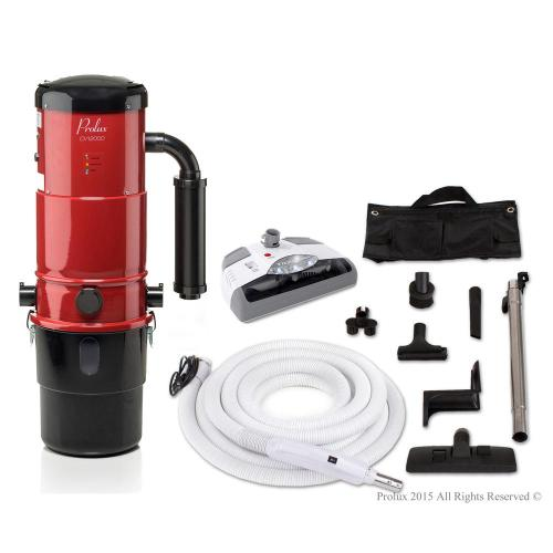 small resolution of prolux cv12000 red central vacuum power unit with electric hose and power nozzle kit