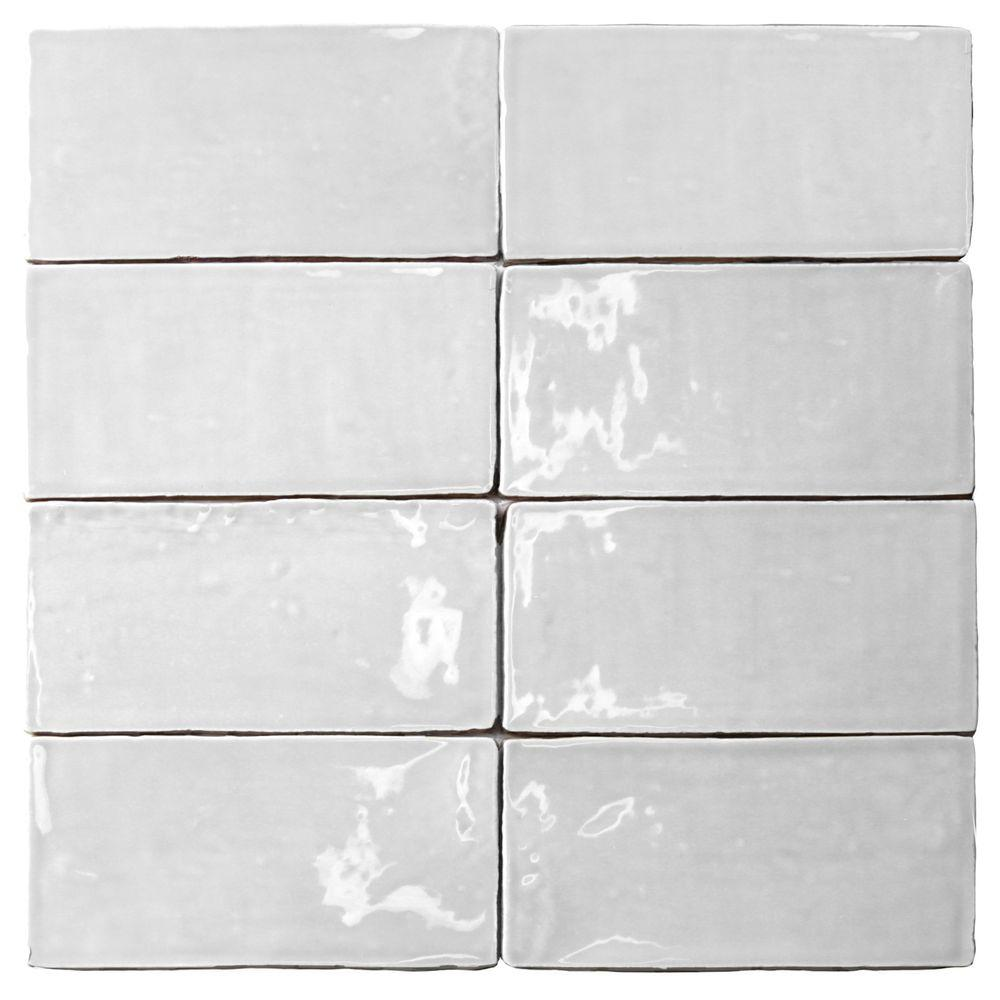 Splashback Tile Catalina White 3 in. x 6 in. x 8 mm