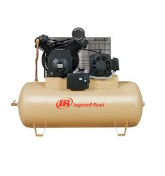 ingersoll rand type 30 reciprocating 120 gal 10 hp electric 200 volt 3 phase horizontal air compressor [ 1000 x 1000 Pixel ]