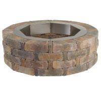 Pavestone RumbleStone 46 in. x 14 in. Round Concrete Fire ...