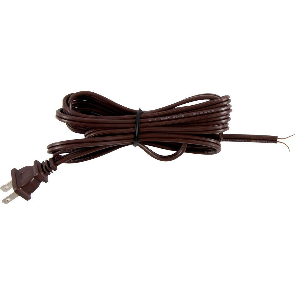hight resolution of replacement cord set with polarized plug on 1 end brown