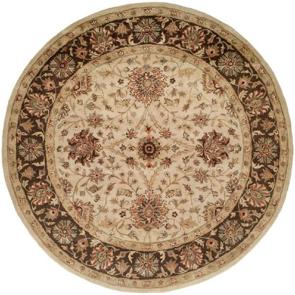 Brown Round Area Rugs