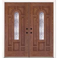 Feather River Doors 74 in. x 81.625 in. Medina Zinc Center ...